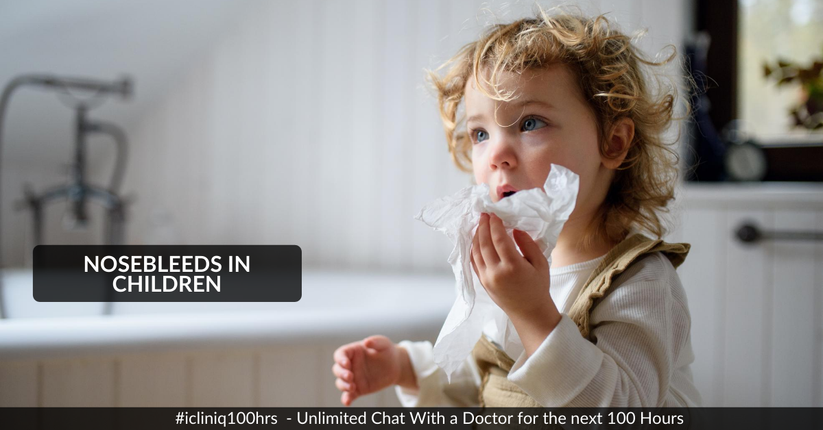 What to Do If You or Your Child Suddenly Start Bleeding from the Nose?