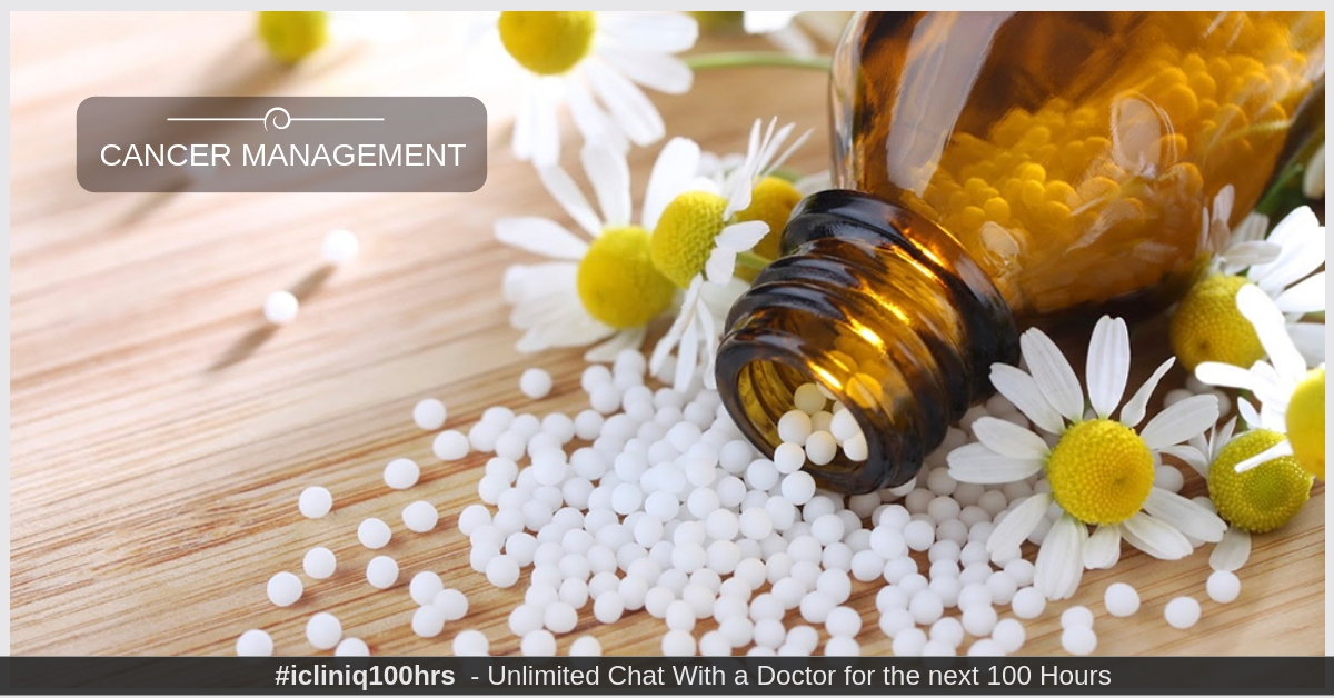 Homeopathic Treatment for Cancer Management