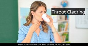 Excessive Throat Clearing should not be Neglected