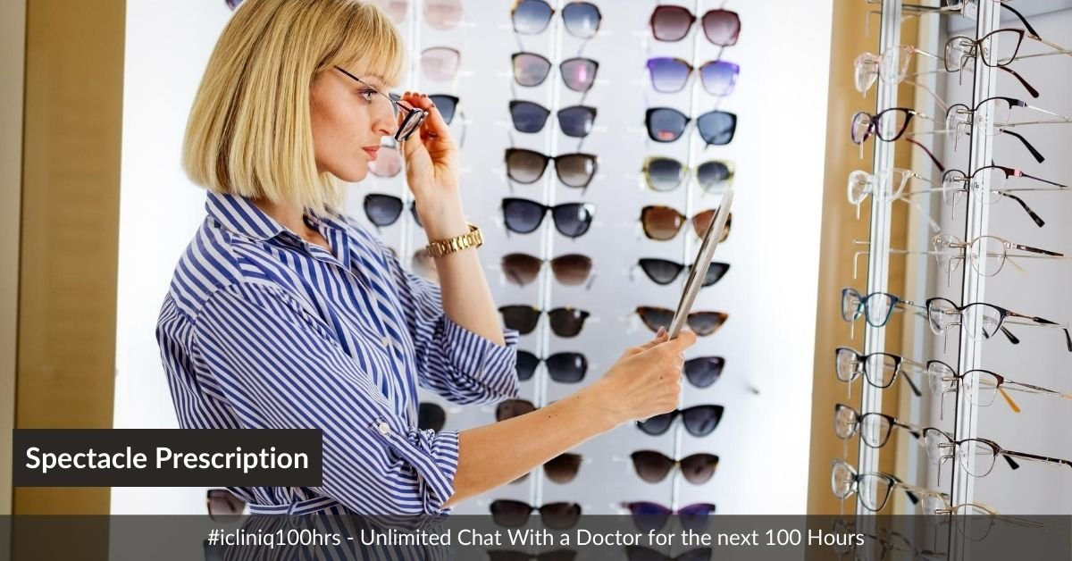 What the Numbers on Your Spectacle Prescription Indicate