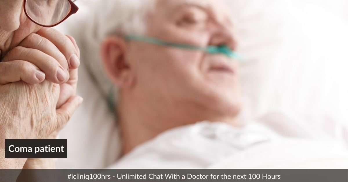 A coma patient has normal vital signs with eyes shut even after surgery. Why?