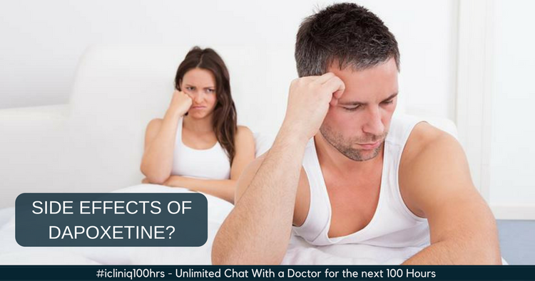 Are there any long term side effects of Dapoxetine?