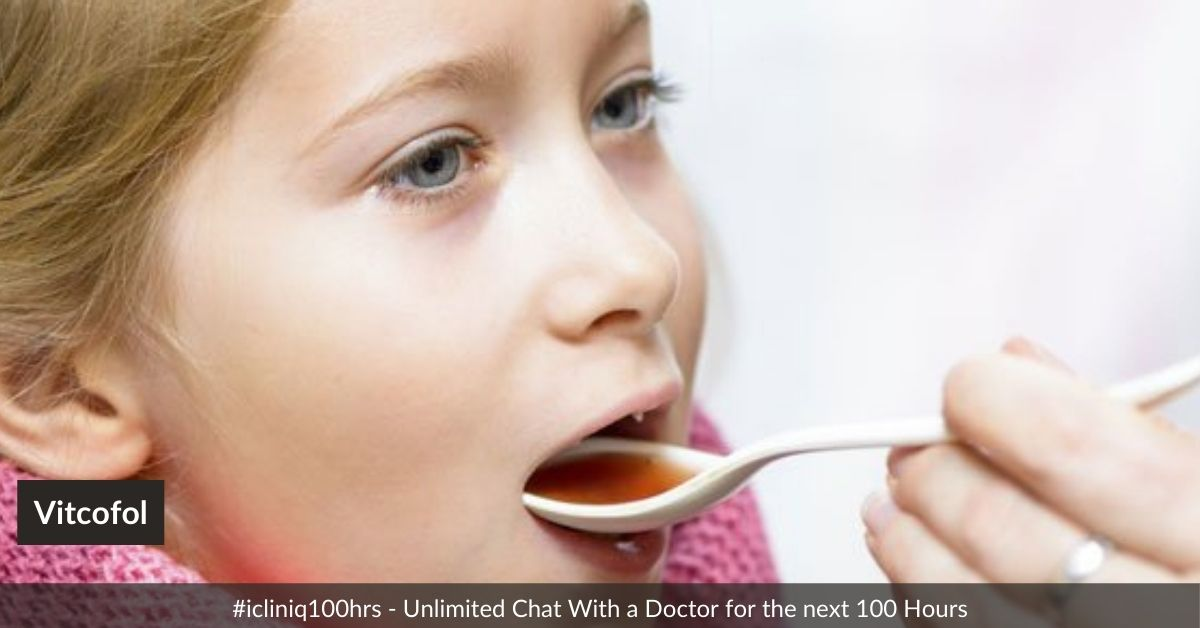 Can Vitcofol be given along with syrup Zincovit to 1-year-old baby?