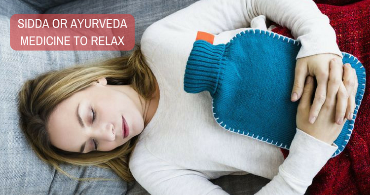 Could you recommend some sidda or ayurveda medicine to relax the abdomen muscle?