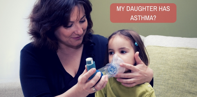 Does our doctor's prescription say that my daughter has asthma?