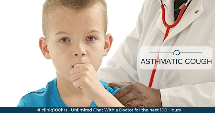 How fast do antibiotics relieve asthmatic cough?