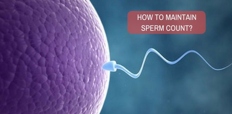 How to maintain sperm count through treatment?