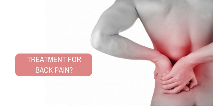 How to proceed with the treatment for back pain?