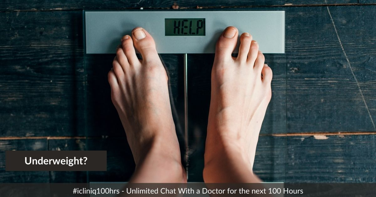 I am unable to gain weight. Please suggest.