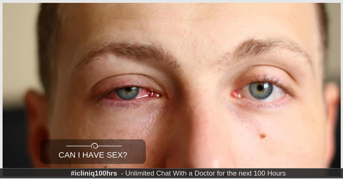 I have pink eye. Can I have sex?