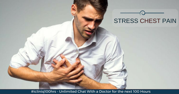 Is stress chest pain related to heart or GERD?
