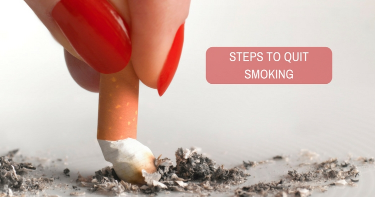 Kindly advise me the steps to quit smoking.
