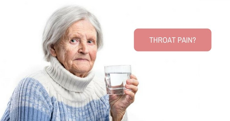Kindly suggest a medicine for my granny's throat pain.