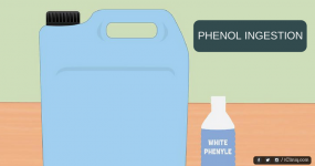 Please explain the poisonous effect of phenol ingestion.