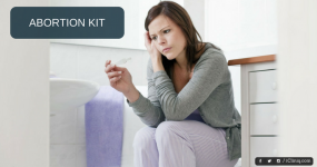 After taking abortion kit, how to confirm abortion?