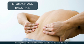 I have severe stomach and back pain at the same time. Can you Suggest any quick remedy?