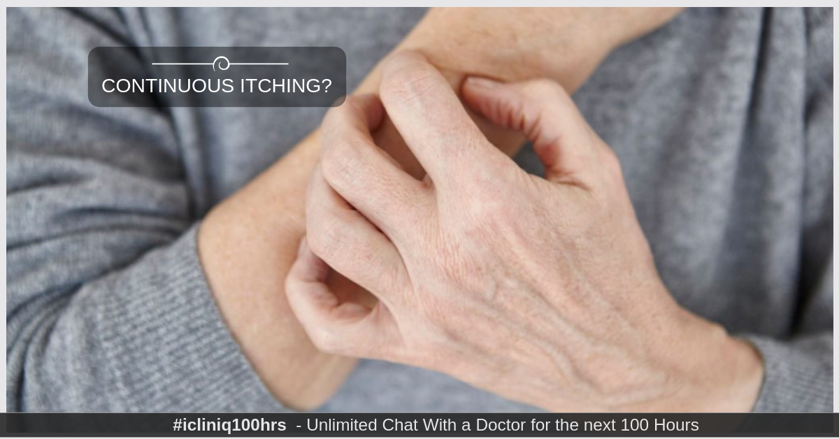 What can be done to treat continuous itching in a thyroid patient?
