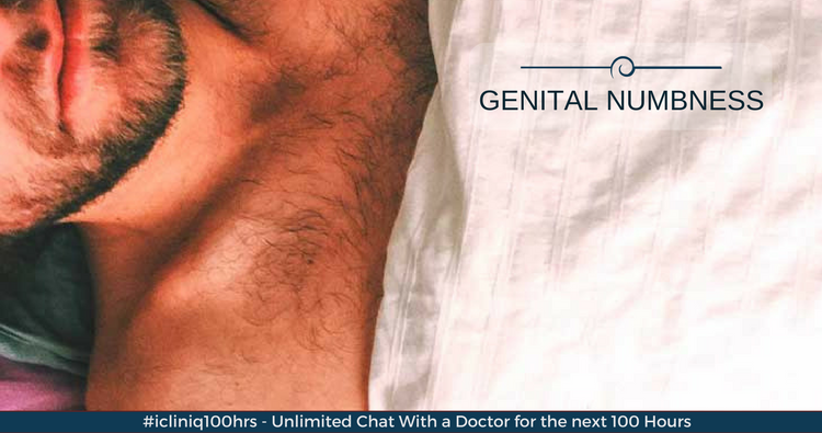 What can cause genital numbness?