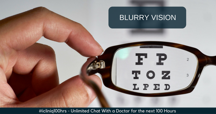What causes a sudden blurry vision in the left eye?