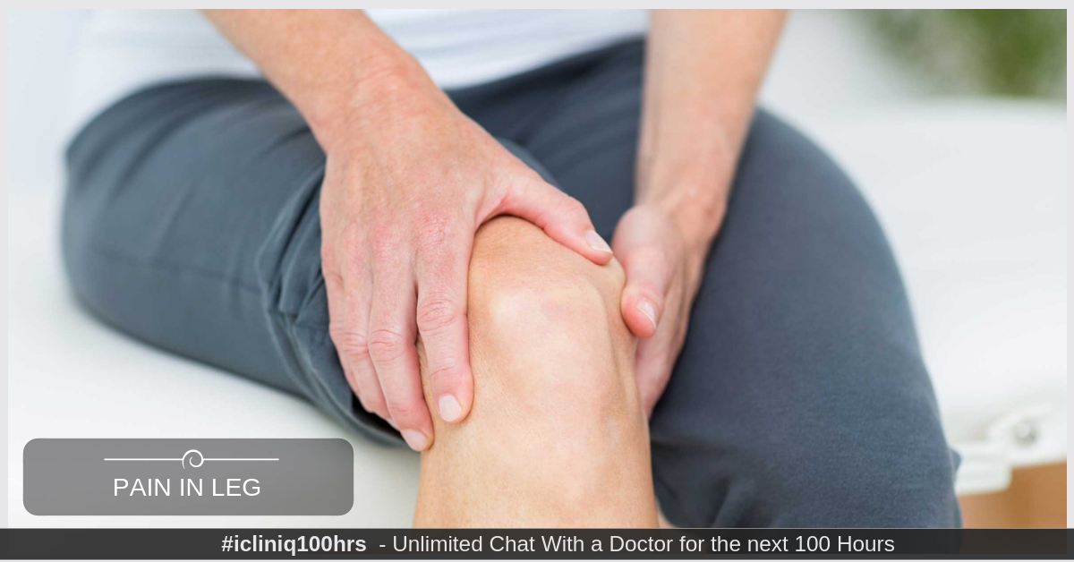 What causes pain in leg with tingling sensation?