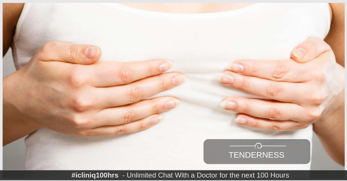 What has caused redness and tenderness in nipple with a bump under skin?