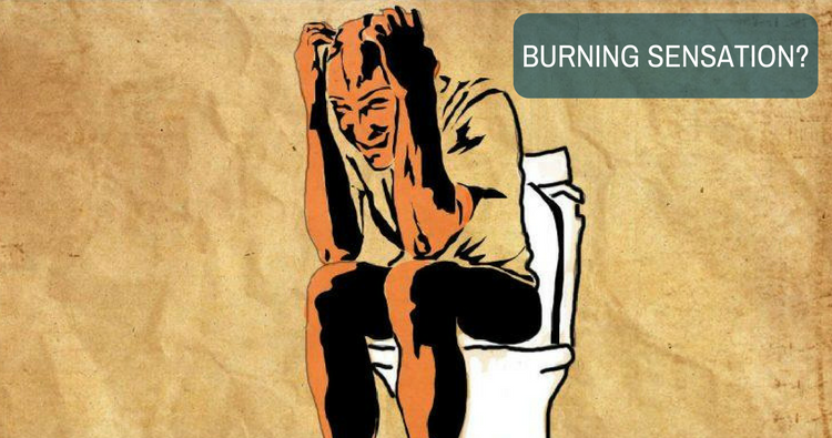 What is the home remedy for burning sensation of the anus?