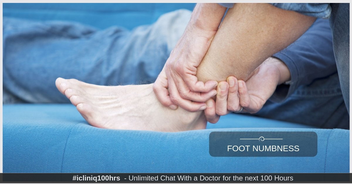 What is the reason for long term foot numbness?