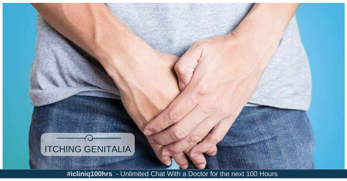 What is the reason for severe itch in genitals and the surrounding area?
