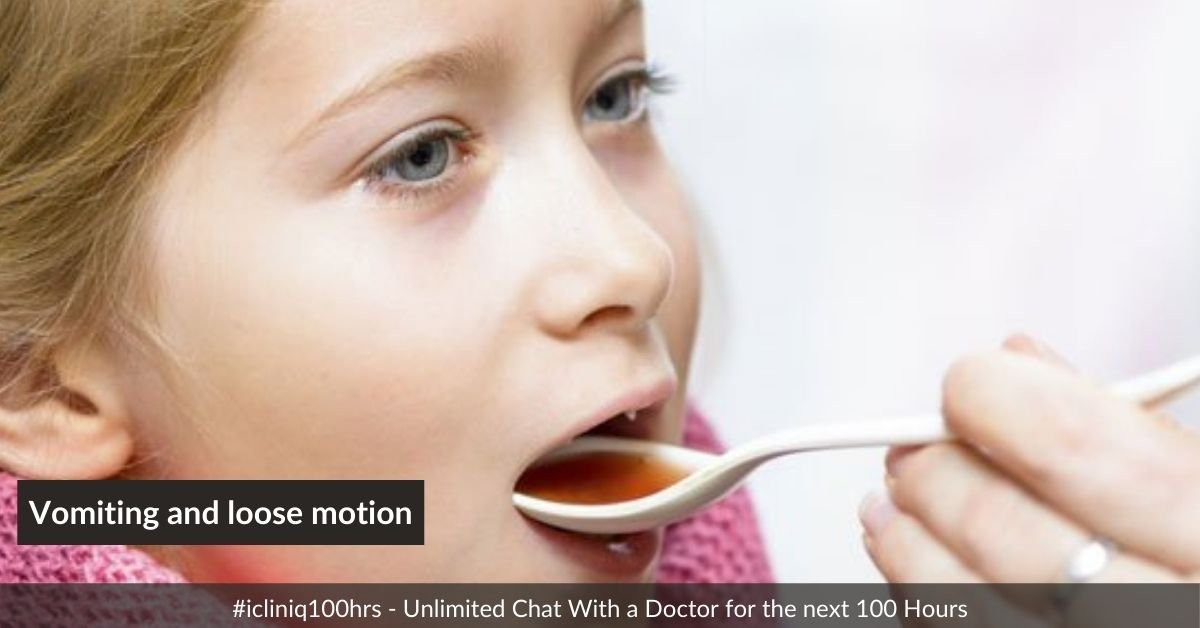What medicine to give a kid with vomiting and loose motion?
