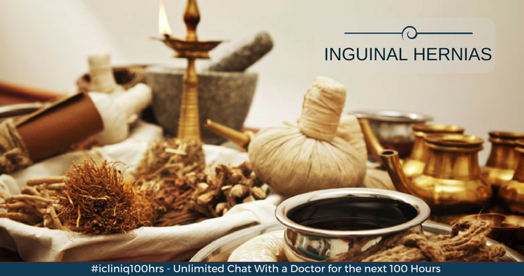 Which is the best ayurvedic medicine to cure inguinal hernias?