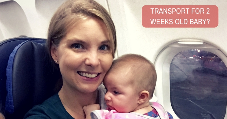 Which is the best mode of transport for 2 weeks old baby?