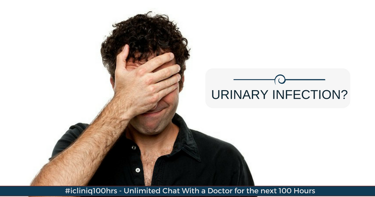 Why do I have burning sensation and itching even after taking antibiotics for urinary infection?