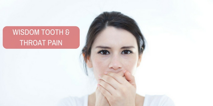 Will my wisdom tooth cause throat pain?